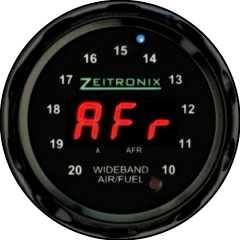 Zeitronix ZR-1 AFR Gauge - LED rouge